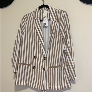 New H&M blazer striped